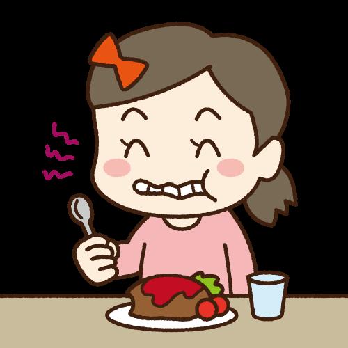 食べ物を咬まずに飲む